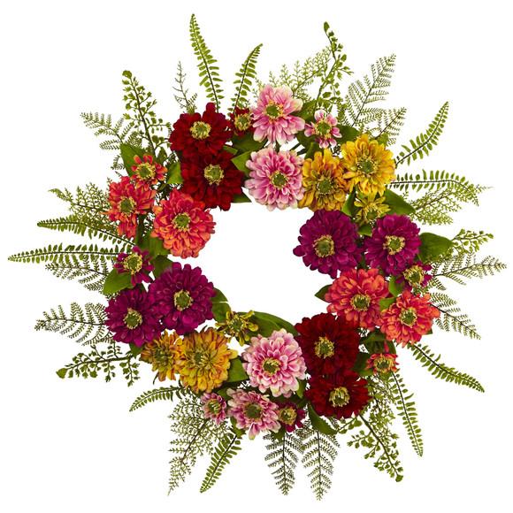 20 Mixed Flower Wreath - SKU #4582