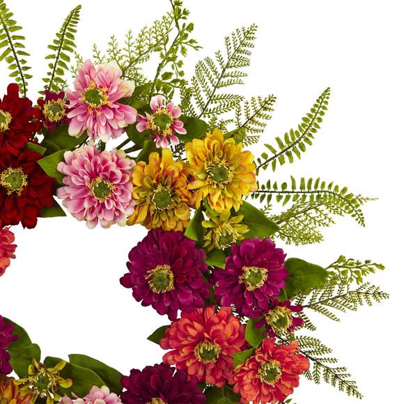 20 Mixed Flower Wreath - SKU #4582 - 1