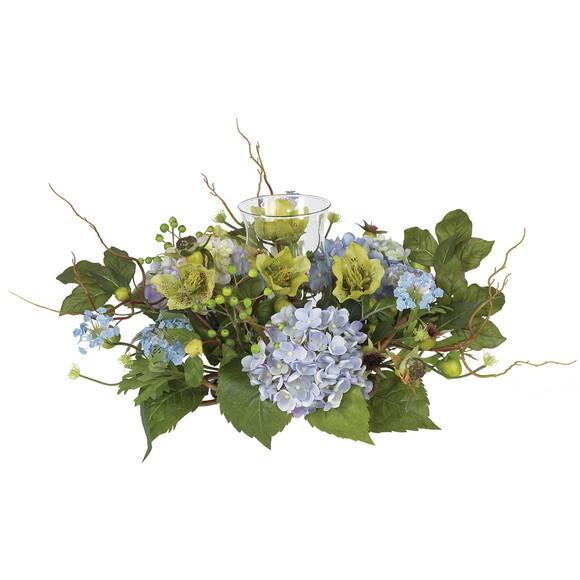 Hydrangea Candleabrum Centerpiece - SKU #4632-BL