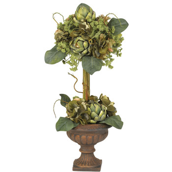 Artichoke Topiary Silk Flower Arrangement - SKU #4633