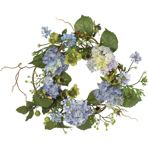 20 Hydrangea Wreath - SKU #4642-BL