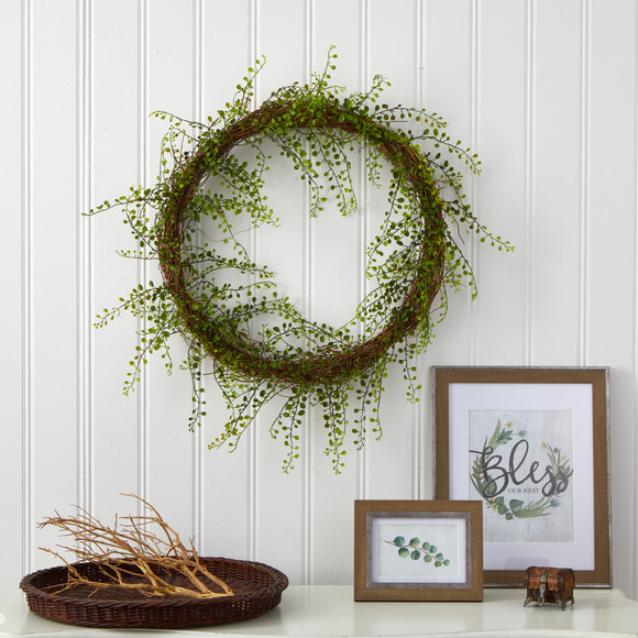 20 Night Willow Artificial Vine Wreath - SKU #4647 - 2