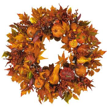 28 Harvest Wreath - SKU #4648