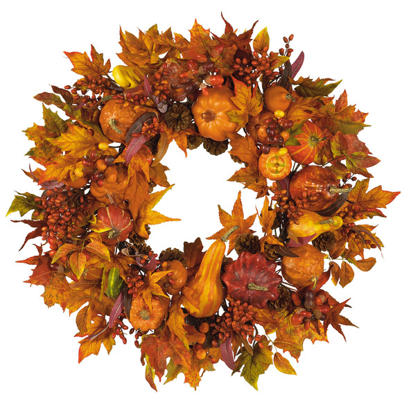 28 Harvest Wreath - SKU #4648