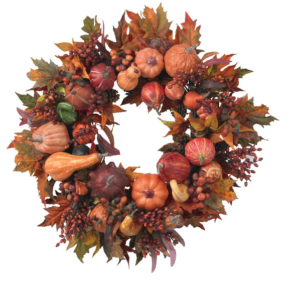 28 Harvest Wreath - SKU #4648 - 1