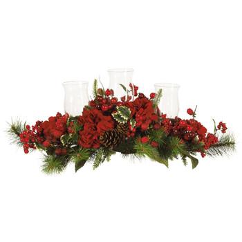 Hydrangea Holiday Candelabrum - SKU #4659