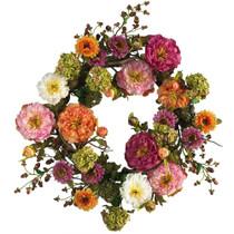 24 Peony Wreath - SKU #4664