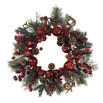 22 Apple Berry Wreath - SKU #4677
