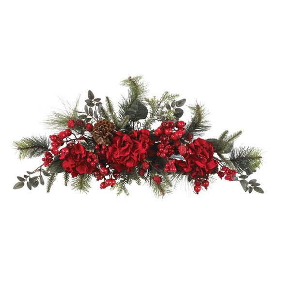 30 Holiday Hydrangea Swag - SKU #4679