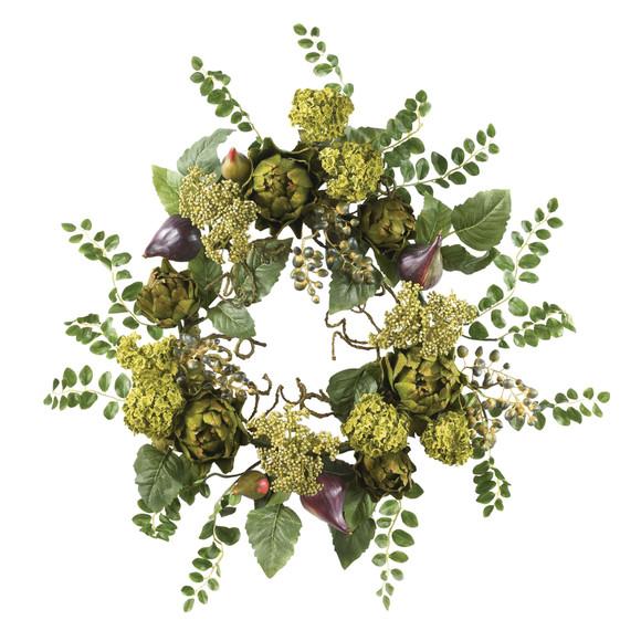 20 Artichoke Floral Wreath - SKU #4684