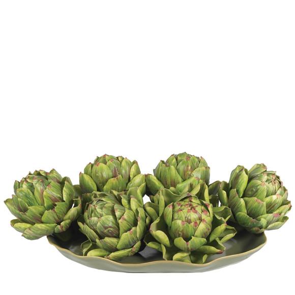 5 Artichoke Set of 6 - SKU #4686 - 1