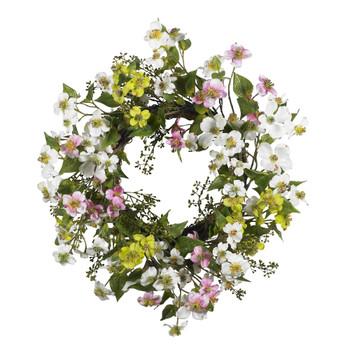 20 Dogwood Wreath - SKU #4688