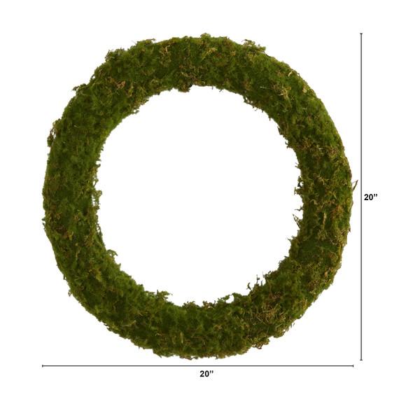 20 Moss Artificial Wreath - SKU #4713 - 1