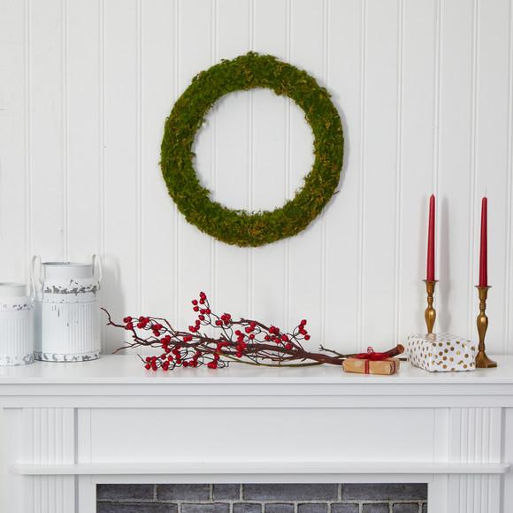 20 Moss Artificial Wreath - SKU #4713 - 3