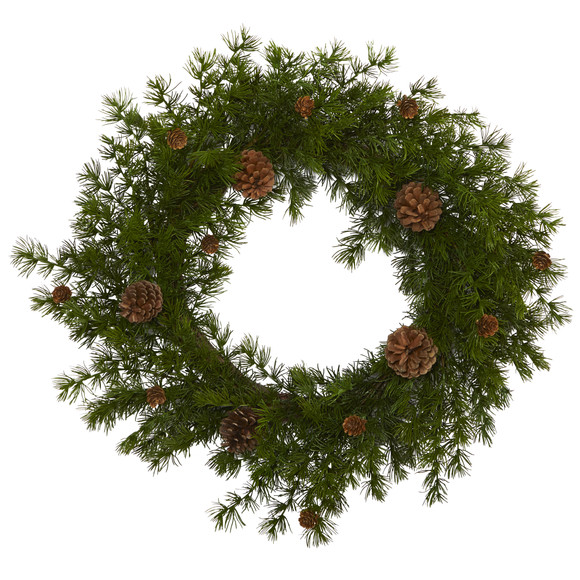 18 Alpine Pine and Pine Cone Artificial Wreath - SKU #4721