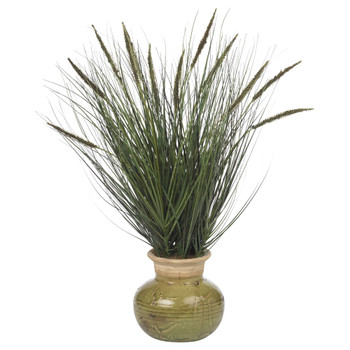 27 Grass w/Mini Cattails Silk Plant - SKU #4730
