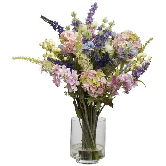 Lavender Hydrangea Silk Flower Arrangement - SKU #4760
