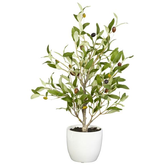 18 Olive Silk Tree w/Vase Set of 2 - SKU #4774-S2 - 1