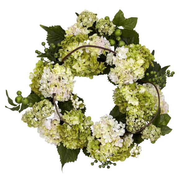 22 Hydrangea Wreath - SKU #4780