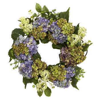 22 Hydrangea Wreath - SKU #4781