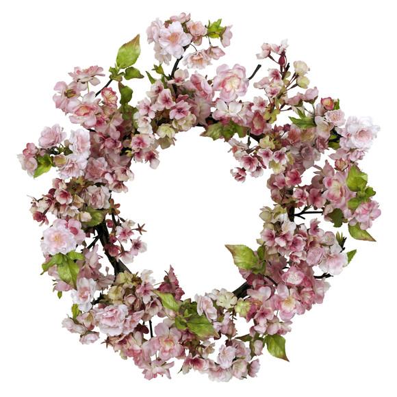 24 Cherry Blossom Wreath - SKU #4783