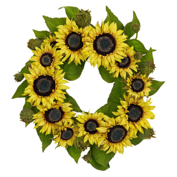 22 Sunflower Wreath - SKU #4787