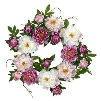 22 Peony Wreath - SKU #4788