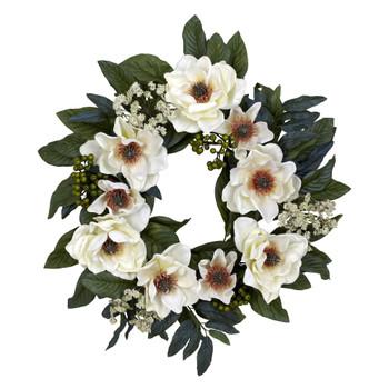 22 Magnolia Wreath - SKU #4793