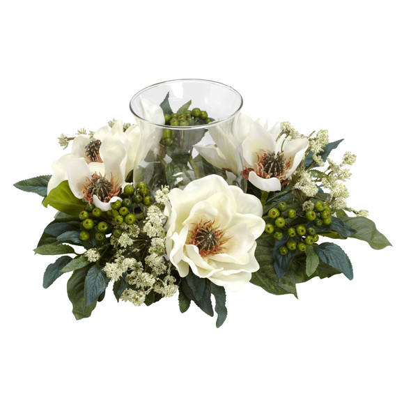 Magnolia Candelabrum Silk Flower Arrangement - SKU #4794 - 1