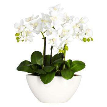 Phalaenopsis Silk Flower Arrangement - SKU #4804
