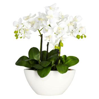 Phalaenopsis Silk Flower Arrangement - SKU #4804