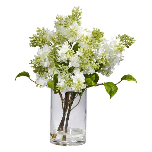 Lilac Silk Flower Arrangement - SKU #4805