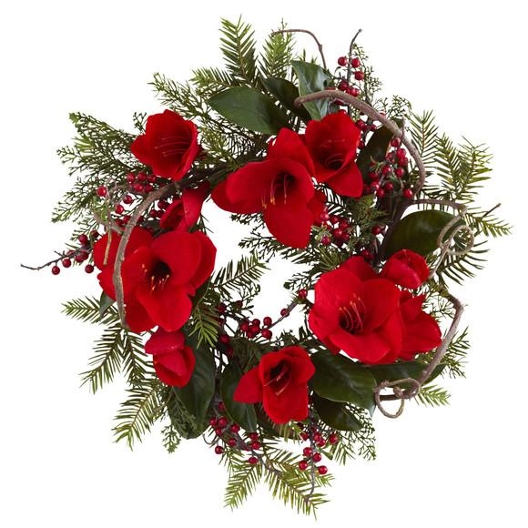 24 Amaryllis Wreath - SKU #4811
