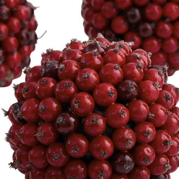 5 Red Berry Ball Set of 6 - SKU #4812-S6 - 3