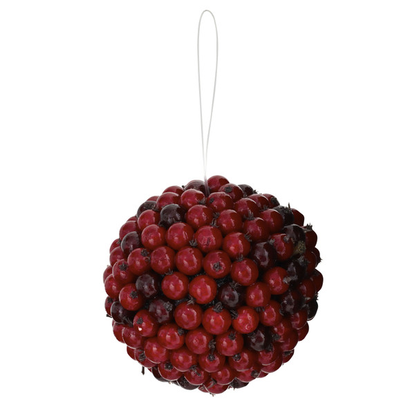 5 Red Berry Ball Set of 6 - SKU #4812-S6 - 4