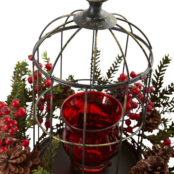 Pine Berry Birdhouse Candelabrum - SKU #4814 - 1