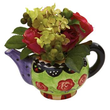 Rose Hydrangea w/Decorative Vase - SKU #4817