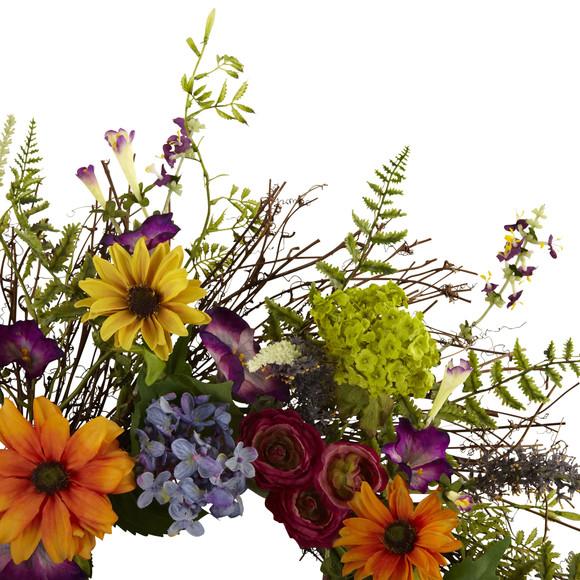 24 Spring Garden Wreath w/Twig Base - SKU #4821 - 1