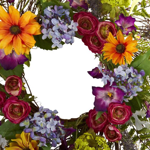 24 Spring Garden Wreath w/Twig Base - SKU #4821 - 2