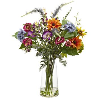 Spring Garden Floral w/Vase - SKU #4822