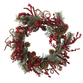 24 Assorted Berry Wreath - SKU #4838