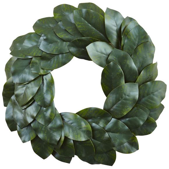 24 Magnolia Leaf Wreath - SKU #4874