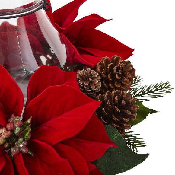 Poinsettia Pine Pine Cone Candelabrum - SKU #4875 - 4
