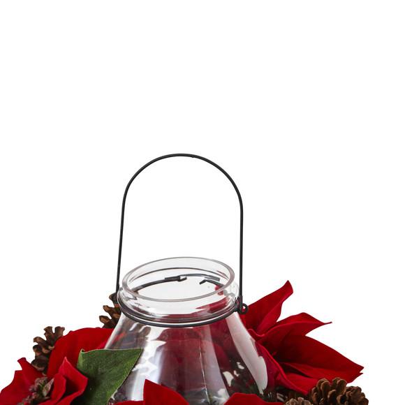 Poinsettia Pine Pine Cone Candelabrum - SKU #4875 - 5
