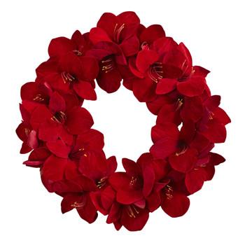 22 Amaryllis Wreath - SKU #4879