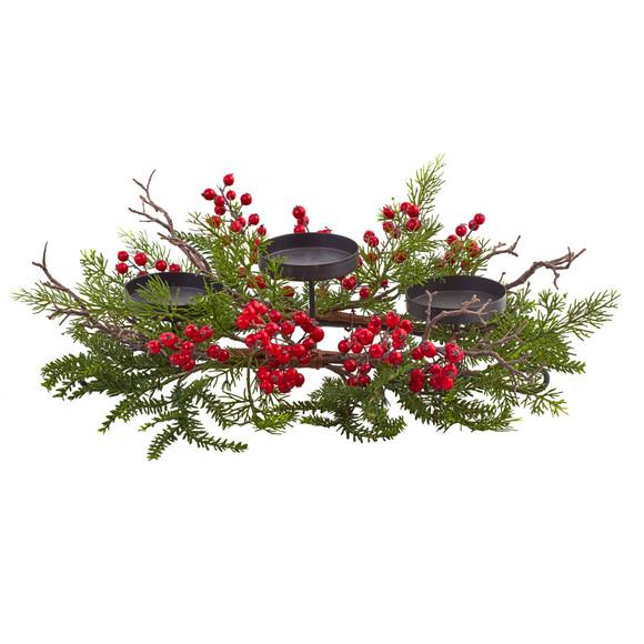 Berry Pine Triple Candleabrum - SKU #4887