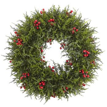 20 Cedar Berry Wreath - SKU #4891