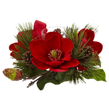 Red Magnolia Pine Candelabrum - SKU #4894