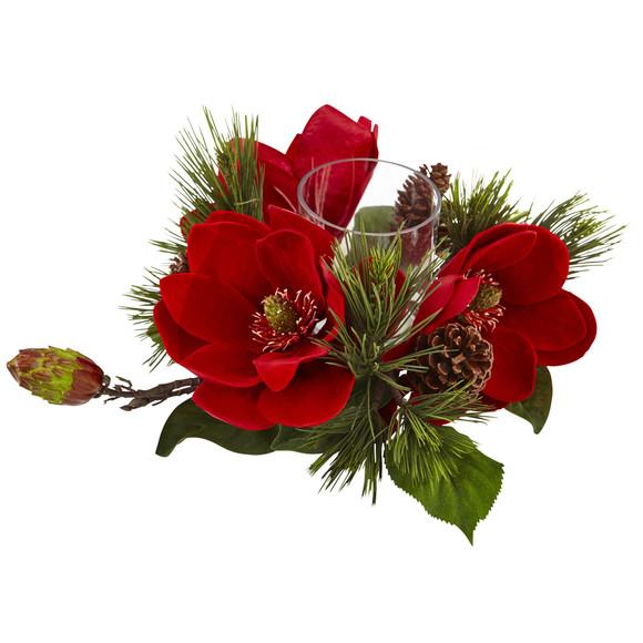 Red Magnolia Pine Candelabrum - SKU #4894 - 1