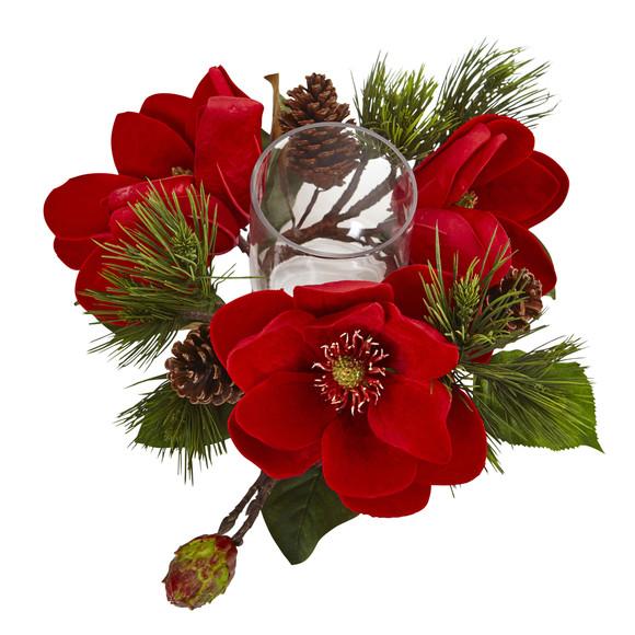 Red Magnolia Pine Candelabrum - SKU #4894 - 2